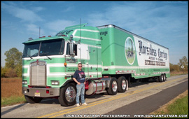 DuncanPutman.com Editor-In-Cheif Duncan Putman with Mark Harter's 1986 Kenworth K100E