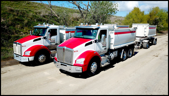 Butte Sand and Gravel Kenworth T880s