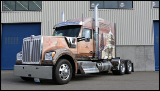 2019 Kenworth W990 that will be hauling the U.S. Capitol Christmas Tree