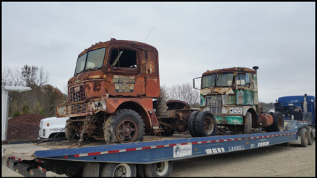 September 2019 End of the Road - 1958 and 1962 Mack H-67s