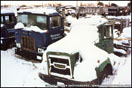 A 1974 Mack F-Model and a 1972 Brockway 361