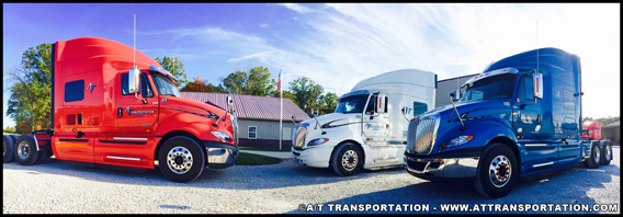 A/T Transportation International Prostar tractor-trailers