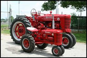 International Harvester Farmall Super M with 1/2 scale Little Tractor Co replica
