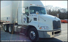 Wisconsin Transfer Mack Pinnacle tractor-trailer