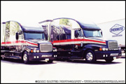 Larry Shinoda Freightliner Century Class Team Penske IndyCar Transporters