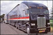 Larry Shinoda designed Freightliner FLT Team Penske IndyCar Transporter
