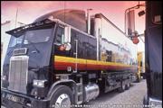 Larry Shinota designed Freightliner FLT Team Penske IndyCar Transporter
