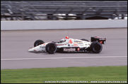 Mario Andrettti on track in his Lola/Chevrolet during qualifying for the 1991 Indianapolis 500