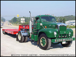 Mack B-Model parked outside of Watts Truck Center