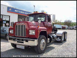 Mack R-Model parked outside of Watts Truck Center