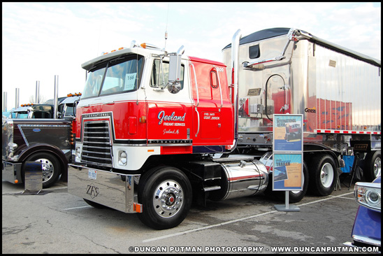 A 1980 International 4070B Transtar II photographed at the 2018 Mid-America Trucking Show PKY Truck Beauty Competition, Louisville, KY - Photo by Duncan Putman