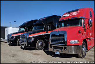 IndyCar Transporters at the 2018 GoPro Grand Prix - Photo by Nicholas Harter