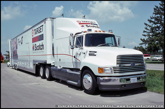 Target Chip Ganassi Racing Ford Aeromax IndyCar Transporter - Photo by Duncan Putman
