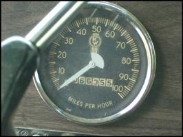 Speedometor of Jim Cox's 1976 Kenworth W900A