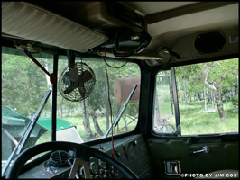 Interior of Jim Cox's 1976 Kenworth W900A