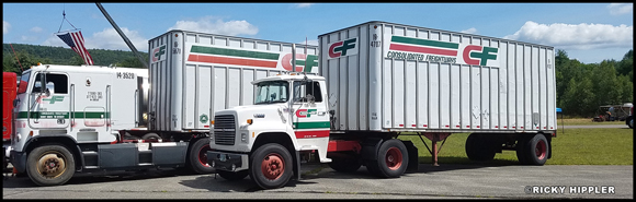 1993 Freightliner FLA and 1990 Ford LN with Road Systems Trailers