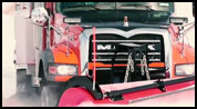 Mack Granite with Increased Clearance for Underbody Scraper Installation